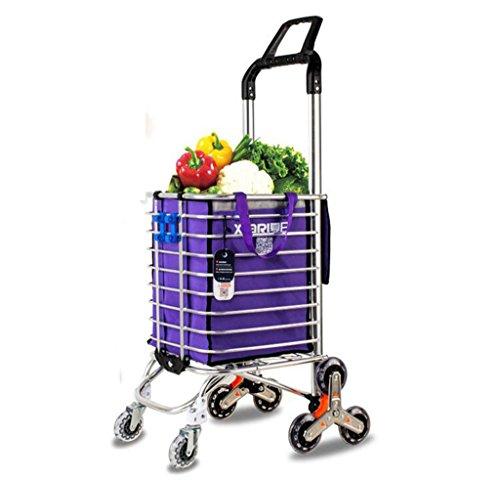 Riesiger Einkaufstrolley Faltbarer Tragbarer Einkaufswagen-Aluminiumeinkaufswagen-Laufkatzen-Wagen-8 Rad-Kletternde Treppe-Zusammenklappbares Geschenk Eins Einkaufstaschebeweglichkeitslaufkatze.