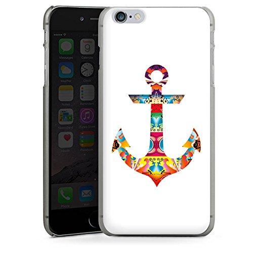 Apple iPhone X Silikon Hülle Case Schutzhülle Decorative Anchor Anker Muster Hard Case anthrazit-klar