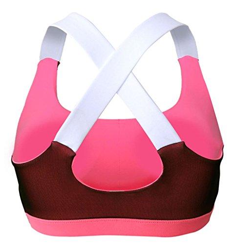 Y-BOA Soutien-Gorge Haut Gilet Sport Gym Yoga Top Fitness Stretch Rouge