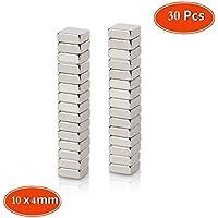 Mini-aimants Carré,pour tableaux magnétiques N48 Force 10 x 10 x 4mm 30 pièces aimants neodymes Multi-Utilisation pour porte de réfrigérateur Panneau blanc Carte magnétique Porte d'écran magnétique Panneaux d'affichage Réfrigérateurs