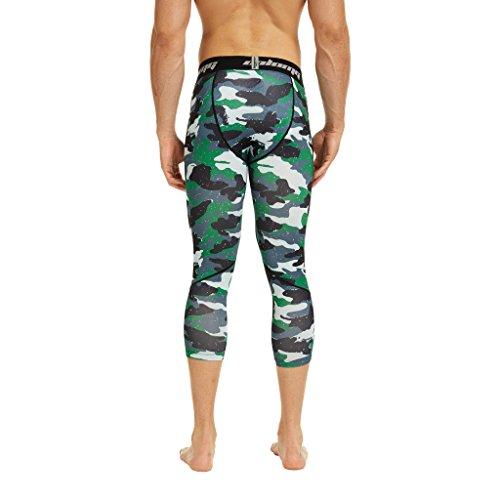 Coolomg compressione pantaloni da corsa a 3/4aderenti pantaloni capri leggings 20+ colori/modelli shorts primo strato, disponibile ad asciugatura rapida per uomo da ragazzo S2-AGE(3/4 length)