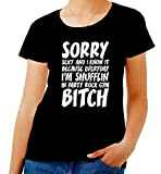 Photo de T-Shirt Femme Noir FUN3943 LMFAO Sorry Party Bitch par T-Shirtshock