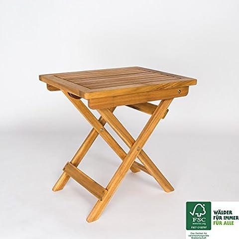 SAM® Gartenhocker Blossom aus Akazie, geschliffen & geölt, Garten-Möbel aus Holz, FSC® 100% zertifiziert, massiver Sitzhocker, Hocker ergänzt jedes (Jedes Set)