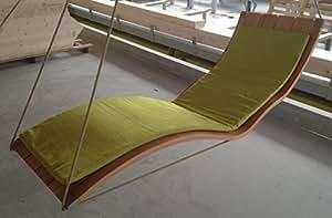 doppel h ngeliege l ngslattung aus holz f r den garten und innenbereich saunaliege. Black Bedroom Furniture Sets. Home Design Ideas