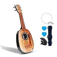 "21"" Guitar Ukulele Toy for Kids Think Wing 5-in-1 Children Musical Instruments Educational Toys for Beginner Starter (Round Light)"