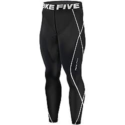New Leggings de compresión 011 Base Layer negro para hombre pantalones de correr