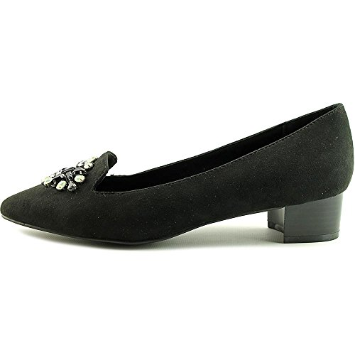 Ann Marino by Bettye Muller Make a Date Damen Spitz Stoff Slipper Black