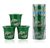 Gutens Reusable K-Cups 3 Count for Keurig K-Cup Brewer K75, K45, B60, B70, B130, K40, B40, K60, B145, B150, B140, K150, K70, B30, K145, K155, B155, B44, B200, B3000, replaces Ecobrew, Solofil, and Kuerig My refillable K cup (Green)