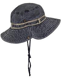 e5b7334c629 Tropic Hats Stonewash Floppy Bucket Summer Cap W Snap Up Sides   Band (
