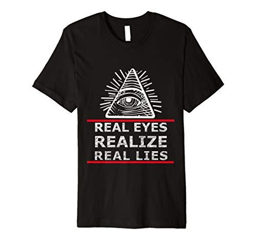 Allsehendes Illuminati Auge mit Spruch für Aufgewachte - Nwo-t-shirt