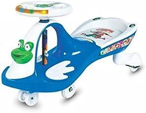 Panda Goyal's Frog Free Wheel Magic Car (Blue and White)
