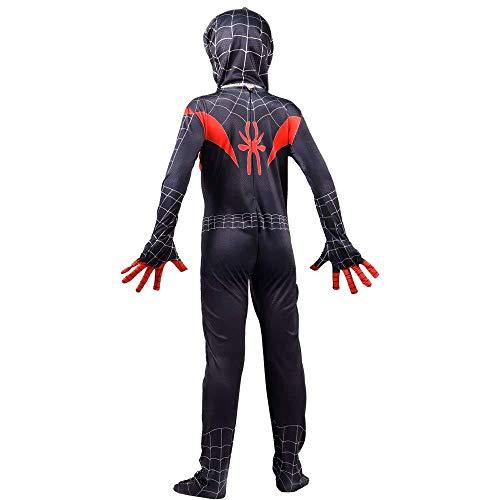 Jahre 9 Spiderman 10 Kostüm - TENGDA Erwachsene Kinder Spider-Man Spiderman Kostüm Kinder Superheld Kostüme Jungen Halloween Kostüm Film Cosplay Kostüm Onesies + Kopfhaube 6-14Jahre,L-130-140