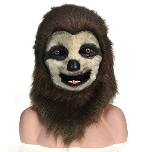 ultier Kopf Faultier Kopfbedeckung angepasst Parade Moving Mouth Mask Faultier Simulation Kreatur Maske (Color : Brown, Size : 25 * 25) ()