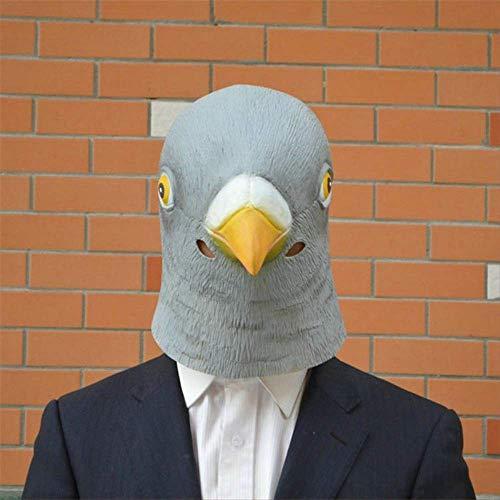 Wbdd Maske 1 Pc Neue Taube Maske Latex Riesen Vogel Kopf Halloween Cosplay Kostüm Theater Prop Masken Für Party Geburtstag Dekoration T50