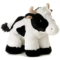 Popular Mini Flopsie - Mini Moo Cow Plush Soft Toy Animal - My First Teddy Bear For Girls & Boys. Great Gift Idea