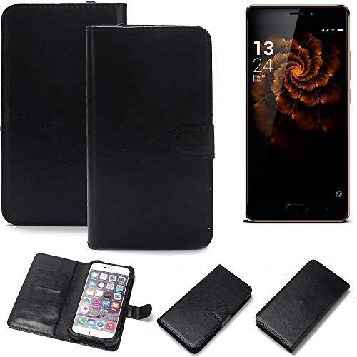 K-S-Trade 360° Wallet Case Handyhülle für Allview X3 Soul Pro Schutz Hülle Smartphone Flip Cover Flipstyle Tasche Schutzhülle Flipcover Slim Bumper schwarz, 1x