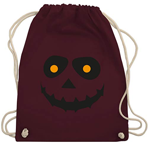 Halloween - Gruseliges Gesicht Fasching - Unisize - Bordeauxrot - WM110 - Turnbeutel & Gym Bag (Gruselige Witze Halloween Für)