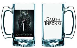 Game Of Thrones Maison Stark-Chope de bière GOT You Win Or You Die Logo HBO verre