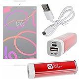 Batería Externa Portátil ( 2600mAh ) Para tablet BQ Aquaris M8 + Cable MicroUSB A USB - Color Rojo - DURAGADGET - DURAGADGET