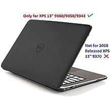 """Cubierta dura mCover para la computadora portátil Ultrabook 13,3 """"Dell XPS 13 9343/9350/9360 (** No compatible con la versión Dell lanzada 2018 Dell 9370 **) - Negro (9343/9350/9360)"""