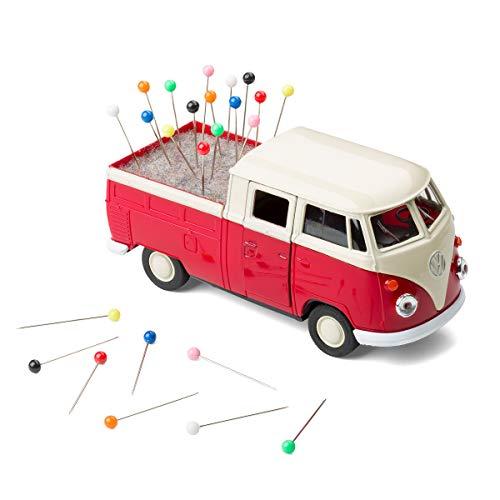 corpus delicti:: Roll endes alfiletero VW Bus T1Transporter pritsche Carro con Fieltro Incluye Alfileres–nähmobil