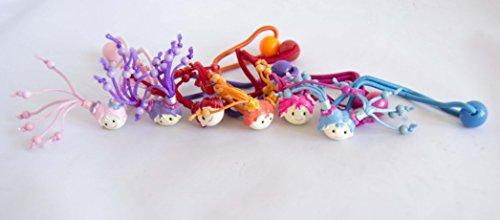 Packung mit 6 Puppen-Haargummis mit verschiedenen Farben GRATIS VERSAND 72H