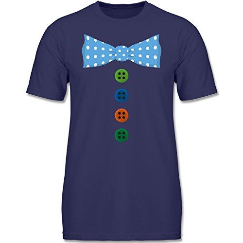 Anlässe Kind - Clown Kostüm Blaue Fliege - 92 (1-2 Jahre) - Navy Blau - F140K - Kinder T-Shirt für (Narr Kostüme Kinder)
