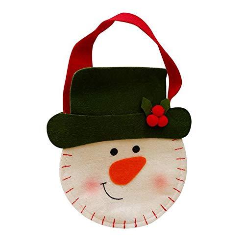 (Stil: Schneemann) Weihnachten Themed Tragbare Beuter Non-Woven-Gewebe-Handtasche Cartoon-Geschenk-Beutel-Ausgangspartei -