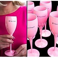 Champagne Veuve Clicquot Ponsardin: Copas de tulipanes de acrílico naranja