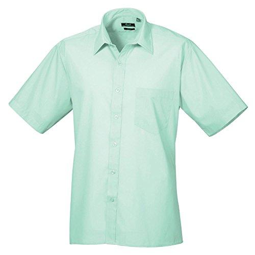 Premier Kurzarm Popeline-Hemd Aqua 14.5 (Aqua-hemd)