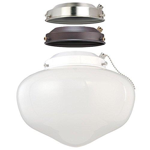 Westinghouse 7785200-LED Schulhaus Energy Star Deckenventilator Light Kit, drei, Konstruktion mit Glas weiß opal -