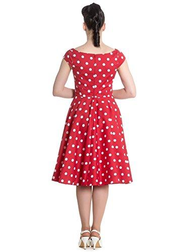 Hell Bunny Damen Kleid rot rot Rot