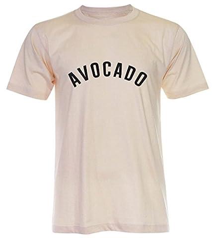 PALLAS Unisex's Avocado Classic T-Shirt -PA364 (Light Beige , L)