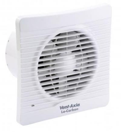 Vent-Axia 441628A Lo-Carbon Silhouette 150B Extractor Fan for Kitchen/ Utility/ Large Bathroom by Vent-Axia