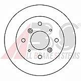ABS 15628 Bremsscheiben - (Verpackung enthält 2 Bremsscheiben)