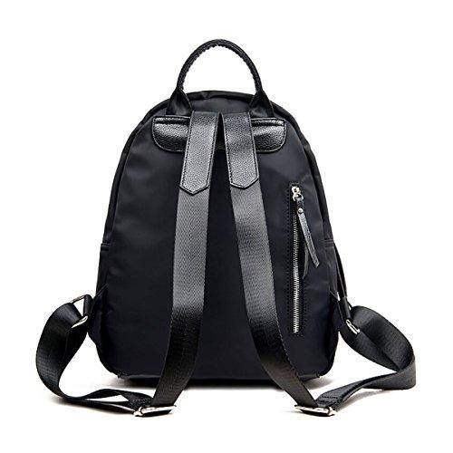 CHENGXIAOXUAN Moda Oxford Stoffa Semplice Sacchetto Di Spalle Stile College Viaggio Zaino Femmina Nero Black