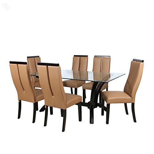 Parin Florence Six Seater Dining Table Set (Brown)