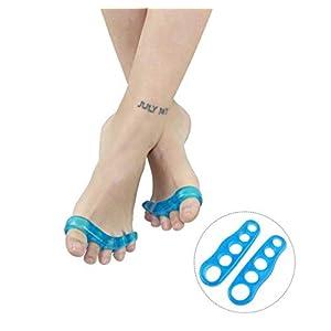 WGE Gel Toe Separatoren & Toe Spreader (5 Paar), Fußschmerz Relief Silikon Bunion Gel Toe Separator