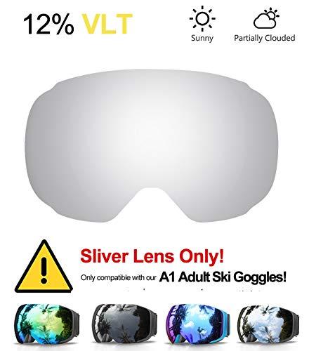 Edrivetech maschera da sci, occhiali maschera sci snowboard neve specchio per uomo donna adulto ragazzo ragazza antinebbia antivento occhiale maschere da sci anti-uv otg magnetica sferica lente