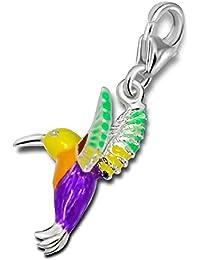 So Chic Joyas - Colgante Charm de aves Colibri Plata 925