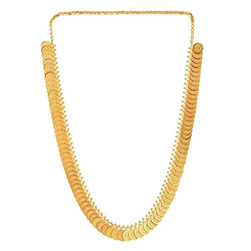 YouBella Traditional Long Temple Coin Necklace Set for Women : Best Rakhi Gift Jewellery