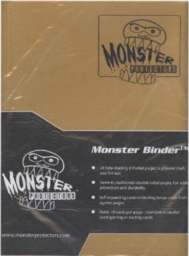 Monster Protectors Monster Binder 9 Pocket Matte Gold (Kleine Pokemon Binder)