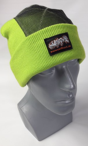 Swift Rock Classic Break Dance Headspin Beanie (Lime Green)