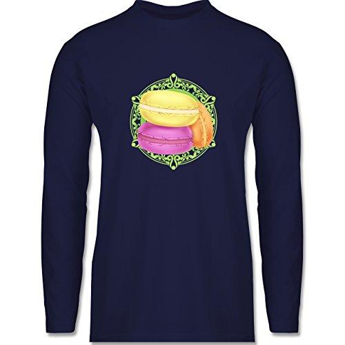 Shirtracer Statement Shirts - Macaroon - Herren Langarmshirt Navy Blau