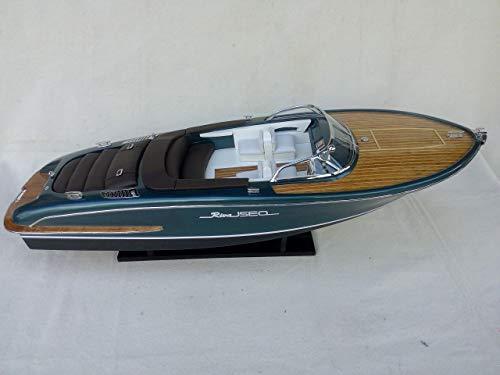 Générique modellino in legno del motoscafo riva iseo, 67 cm