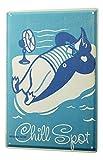 Blechschild Fun Wanddeko Pinguin Eisscholle Ventilator Metallschild 20X30 cm