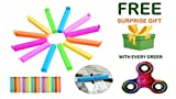 #3: Plastic Seal Clips Multicolor Bag Fresh-Keeping Clamp Sealer for Food and Snack Bag in , Pack of 24 Big & Small Size With ( Get a free surprised assured gift upto worth Rs 249/- with every purchase )- Assorted Colours