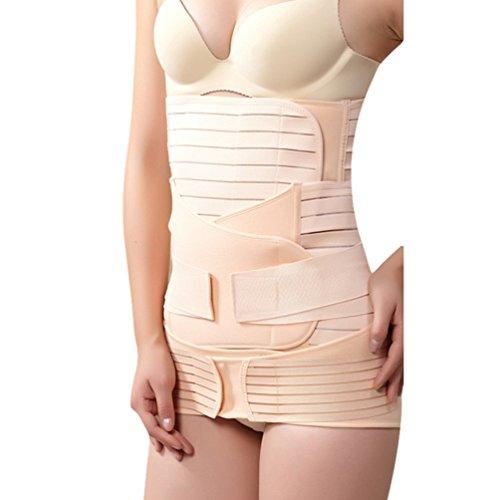 Dexinx Postpartum Bauch Wrap Gürtel Schwangerschaft Erholung Gürtel Korsett Taille Trainer Band Komfortable Atmungsaktive Body Shaper Hautfarbe3 L