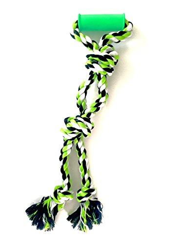 XXL Zerrspielzeug für Hunde von Mary & Kate Pets - Seilspielzeug mit einem weichen Kunststoffgriff für große Rassen - 65 cm (Tan-jungen-jacke)