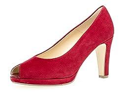 Gabor Damen Peeptoe Pumps 21.390.15, Frauen Peep-Toes,sexy High Heel Peeptoe,Party,Abendschuhe,Rubin,38.5 EU / 5.5 UK